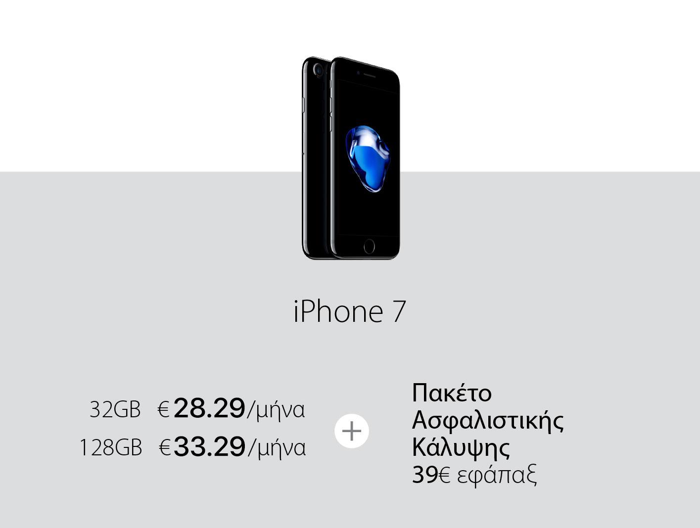 Χαμηλή μηνιαία δόση iPhone 7