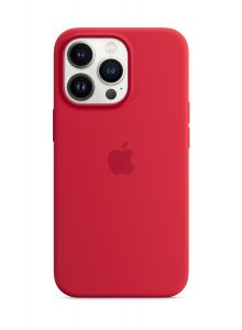 iPhone 13 Pro Silicone Case with MagSafe – (PRODUCT)RED
