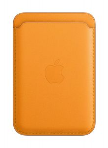 iPhone Leather Wallet with MagSafe - California Poppy