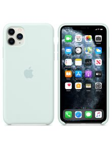 iPhone 11 Pro Max Silicone Case - Seafoam