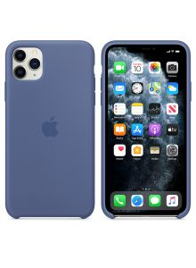 iPhone 11 Pro Max Silicone Case - Linen Blue