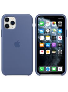 iPhone 11 Pro Silicone Case - Linen Blue