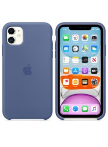 iPhone 11 Silicone Case - Linen Blue